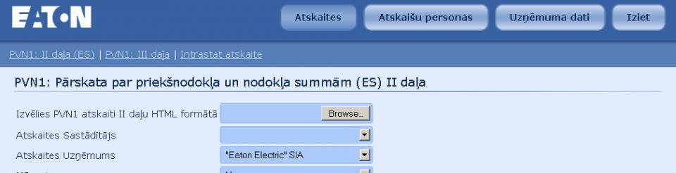 EATON ELECTRIC Atskaišu ģenerators